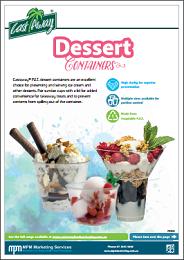 Plastic Dessert Cups Product Brochure